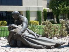 Close-up of The Good Samaritan, Loma Linda