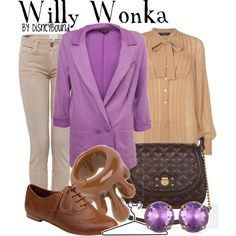 Willy Wonka, created by lalakay on Polyvore