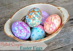 DIY Melted Crayon Easter Eggs