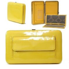 Country Road Women& Plain Extra Thick Frame Leather Like Checkbook Wallet - Yellow Like A Boss, Jewelry Stores, Women Accessories, Yellow, Cover, Frame, Bags, Leather Wallets, Country