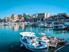How to see the highlights of Heraklion in 24 hours; including the unmissable Palace of Knossos and where to find the most delicious custard pie ever. Fishing Boats, Fly Fishing, Fishing Tips, Crete Heraklion, Cool Places To Visit, The Good Place, Travel Destinations, National Parks, Europe