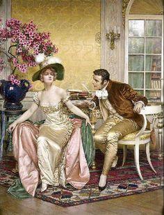 The Athenaeum - Flirtation (Charles Joseph Frederick Soulacroix - )