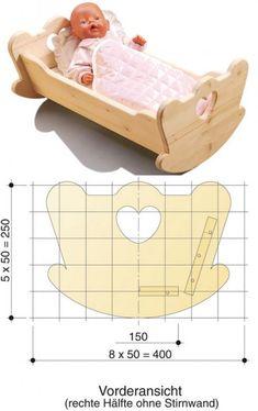 Los muebles de muñeca. Kolybelka | los Objetos de fabricación casera