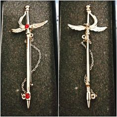 "Name: Cardcaptor Sakura / Card Captor SakuraProduct: Sword Brooch / The Sword Card (featured in ""The Sword Card"" episode)Condition: Brand new, unused"