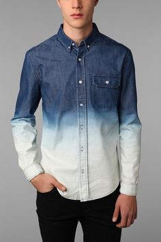 Abel Brown Dip-Dyed Chambray Shirt