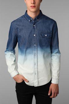 Abel Brown Dip-Dyed Chambray Shirt