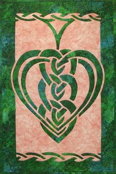 trinity knot heart quilt block - Google Search