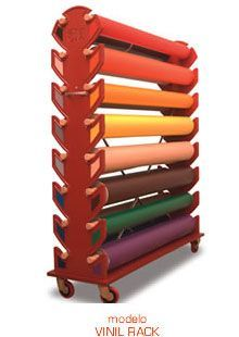 Sewing Fabric Storage A larger vinyl roll storage option - could probably make this myself out of wood Art Studio Storage, Craft Room Storage, Craft Organization, Sewing Room Design, Sewing Rooms, Vinyl Storage, Fabric Storage, Vynil, Vinyl Room