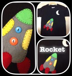 Rocket, fieltro y botones