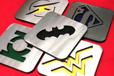 Justicia Liga montaña rusa juego de 5 de acero Batman mujer
