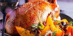 Oie rôtie aux marrons et potimarron
