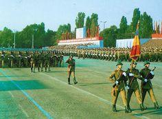 Romanian socialist army parade