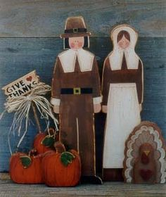 Thanksgiving Pilgrims Thanksgiving Decorations Outdoor, Thanksgiving Crafts, Fall Crafts, Holiday Crafts, Wood Decorations, Halloween Decorations, Fall Projects, Wood Projects, Pilgrims And Indians