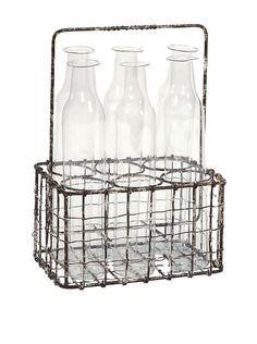 Craiova 6 Glass Bottle with Holder, http://www.myhabit.com/redirect/ref=qd_sw_dp_pi_li?url=http%3A%2F%2Fwww.myhabit.com%2Fdp%2FB00I8MGYSY