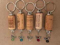 Wine Cork Keychain - Wine Cork Key Holder - Wine Cork Charm Keychain - Wine Lovers Gift - Angel Charm Keychain - Any Occasion Gift Wine Cork Ornaments, Wine Cork Crafts, Gifts For Wine Lovers, Lovers Gift, Recycled Wine Corks, Champagne Corks, Crafts To Make, Easy Crafts, Candy Gifts