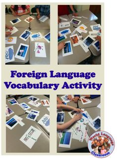 """This is a fun and interactive way for students to practice vocabulary meaning, recognition and spelling. I call this activity """"Everyone to the Table!"""" Begin with 4-5 tables with 3-4 st…"""