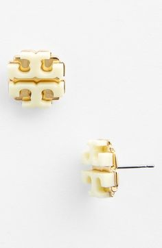 Tory Burch Large Logo Stud Earrings available at #Nordstrom