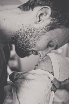 Father and baby photo