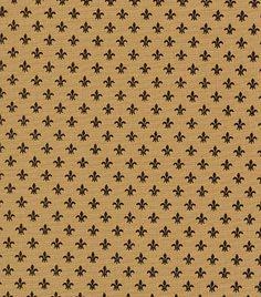 Fabric Finders, Inc. Print #1239 Bronze Fleur de lis