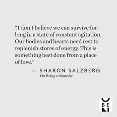 #Repost @onbeing Were beset with horrible news from all sides these days from the lives lost in Las Vegas to the millions suffering in Puerto Rico and Houston. Sharon Salzberg asks: Can we break out of our cycle of agitation to meet this suffering from a place of love? Read and share at onbeing.org/blog. #love #news #stress #selfcare #tragedy #onbeing #sharonsalzberg #mindfulness