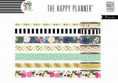 Washi tape assortments make it easy to decorate your Happy Planner™ or any other project you might be working on. Every project can use some cute washi tape…especially The Happy Planner™! Each tube in