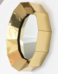 KAGADATO selection. The best in the world. Industrial mirror design. **************************************Curtis Jere Brass Mirror