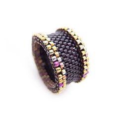 Black+Beaded+Ring+Art+Deco+Ring+Couple+Ring+por+JeannieRichard,+$60.00