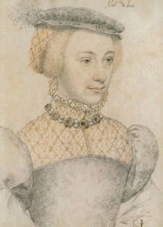 Anne de Pisseleu by Clouet, 1557