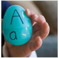 Use Easter eggs to teach ABCs and matching upper/lower case.