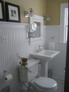 beadboard and black/white hexagon tile (http://youroldhouse.thisoldhouse.com/thisoldhouse/submission.jsp?id=120672)