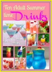 Summer time adult drinks, they look very pretty! Some for Sangria fans and others for Vodka fans :) Party Drinks, Cocktail Drinks, Fun Drinks, Beverages, Cocktails, Summertime Drinks, Summer Drinks, Cheers, Liquor List