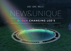 Make a stunning feature in your garden with our 'magic' LED under trampoline lighting system, and keep the kids bouncing for longer as evenings shorten. Sunken Trampoline, Trampoline Party, In Ground Trampoline, Backyard Trampoline, Backyard Playground, Backyard For Kids, Trampoline Ideas, Backyard Garden Design, Backyard Landscaping