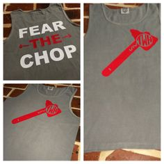 Atlanta Braves FEAR THE CHOP Tank on Etsy, $23.99