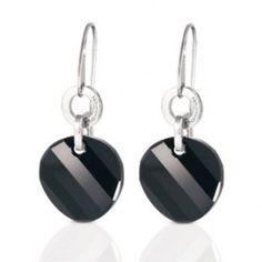 Pendientes de acero largos y plateados con cristal de swarovski tuerca de nomination/Pendientes de acero http://relojesplatayacero.com/