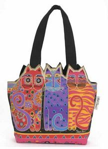 Laurel Burch designs - tons of bags, socks, jewelry. I wore out my bag, must buy new one.