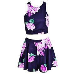 Stylish Summer Floral Crop Top & Shorts Set
