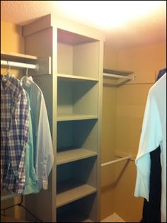 Custom built-in closet organizer