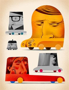 Pawel Jonca, Polish illustrator working with magazines and weeklies