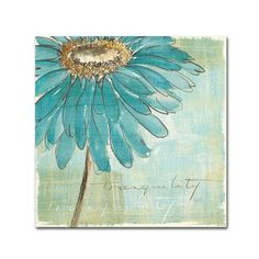 '35 in. x 35 in. ''Spa Daisies Iii'' by Chris Paschke Printed Canvas Wall Art', Blue