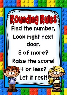 4 Posters with Math Rules/Poems Rounding Rules, Year 3 Maths, Mathematics, Poems, Math, Poetry, Verses, Poem