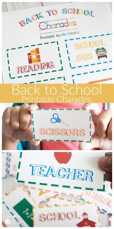 Back to School Charades Free Printable | This free printable for Back to School…