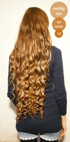haselnussblond - eat♥braid♥love - wedding hairstyle with clip in extensions or for very long hair - waves - curls