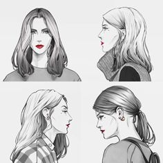 They share a mark Fashion Illustration Sketches, Woman Illustration, Fashion Sketchbook, Fashion Sketches, Drawing Fashion, Canvas Art Quotes, Hair Sketch, Fashion Figures, Pencil Art Drawings