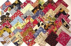 """30 Western Rodeo Cowboy Fabric 4"""" Cotton Quilt Square Charms in Crafts,Sewing & Fabric,Fabric 