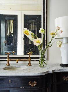 beautiful brass faucet