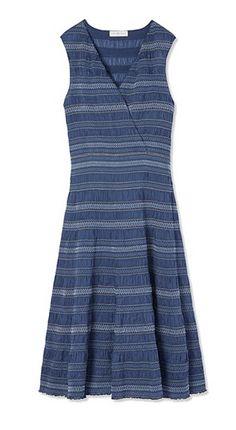 Tory Burch Smocked Cotton Dress