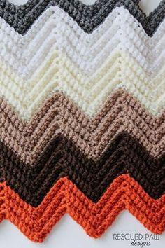 Single Crochet Chevron Blanket FREE CROCHET BLANKRT PATTERN