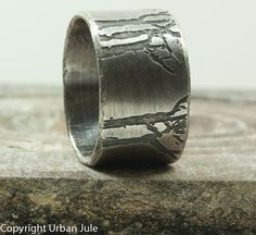 Tree Ring - Tree of Life - Silver Tree Ring - Mens Tree Ring ...