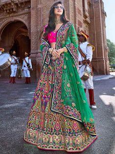 chaniya choli Pink shades Bridal Lehenga Choli with Jacquard Sequence work & multi work such as moti work, stone work, resham work, thread work & lot more. Lehenga Anarkali, Banarasi Lehenga, Silk Dupatta, Ghagra Choli, Choli Designs, Lehenga Designs, Embroidered Clothes, Embroidered Silk, Nikkah Dress
