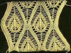 Model de tricotare Ananas folosit pentru tricotare fuste, șal , etc..